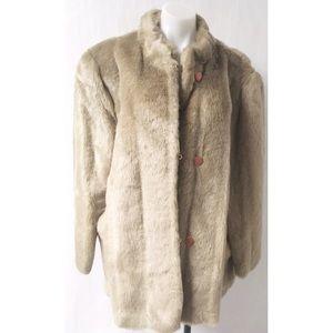Brown Faux Fur Coat Size Large